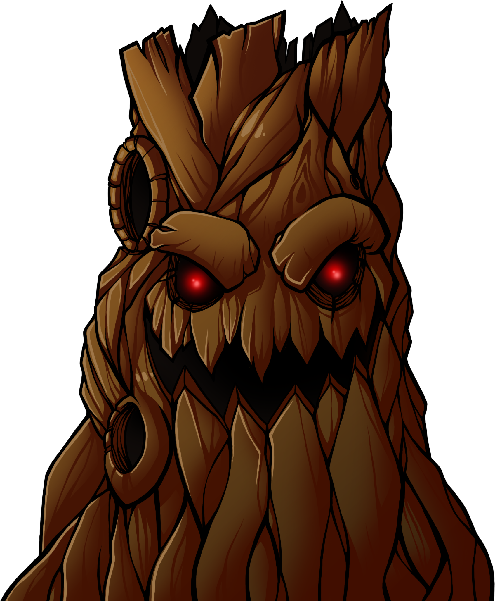 character design finding inspiration for bosses xmpt games one undeniably evil looking tree